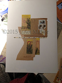 ©2015 Janet Maher, As Yet Untitled Collage Series, in progress, not glued in this shot