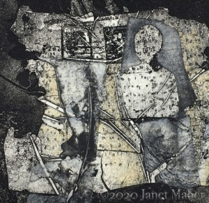 ©2020 Janet Maher, Soul Work (detail); mixed media collage print